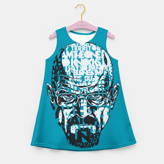 Miniatur Heisenberg Quotes Girl's Summer Dress, Live Heroes