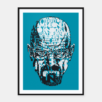 Miniatur Heisenberg Quotes Framed poster, Live Heroes