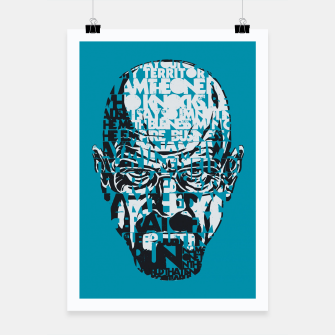 Miniatur Heisenberg Quotes Poster, Live Heroes