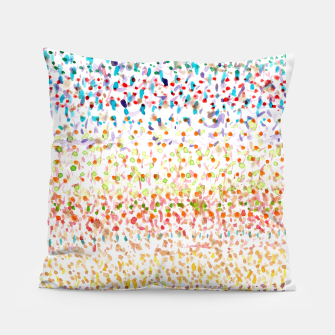 Striped Piled Dots Pattern  Pillow Bild der Miniatur