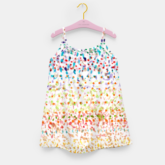 Miniatur Striped Piled Dots Pattern  Girl's Dress, Live Heroes
