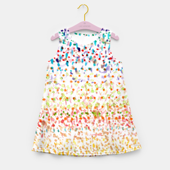 Miniatur Striped Piled Dots Pattern  Girl's Summer Dress, Live Heroes
