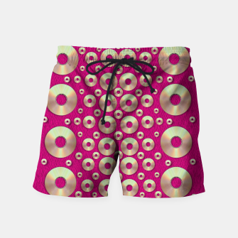 Miniaturka metal on fern pop art  Swim Shorts, Live Heroes