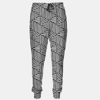 Imagen en miniatura de Geo Triangles - Slate and White Sweatpants, Live Heroes