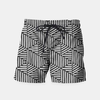 Miniaturka Geo Triangles - Slate and White Swim Shorts, Live Heroes