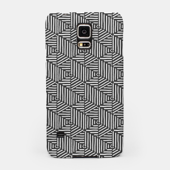 Miniatur Geo Triangles - Slate and White Samsung Case, Live Heroes