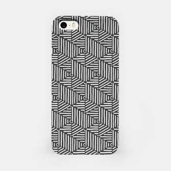 Miniaturka Geo Triangles - Slate and White iPhone Case, Live Heroes