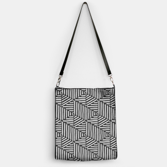 Imagen en miniatura de Geo Triangles - Slate and White Handbag, Live Heroes