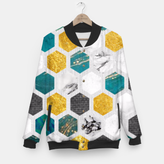 Miniaturka Blue Marbled Honey Comb Baseball Jacket, Live Heroes