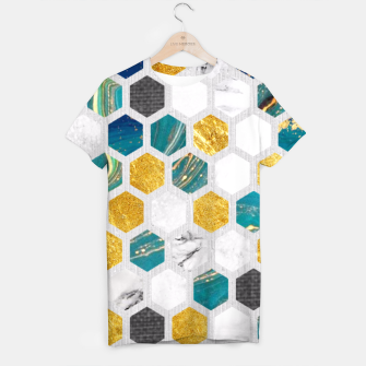 Imagen en miniatura de Blue Marbled Honey Comb T-shirt, Live Heroes