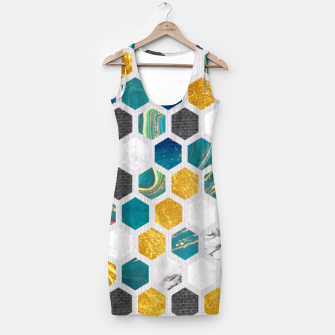 Imagen en miniatura de Blue Marbled Honey Comb Simple Dress, Live Heroes