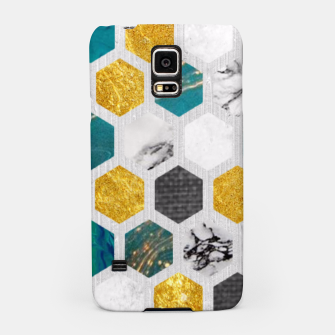 Thumbnail image of Blue Marbled Honey Comb Samsung Case, Live Heroes