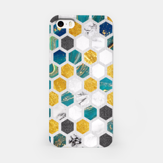 Miniaturka Blue Marbled Honey Comb iPhone Case, Live Heroes
