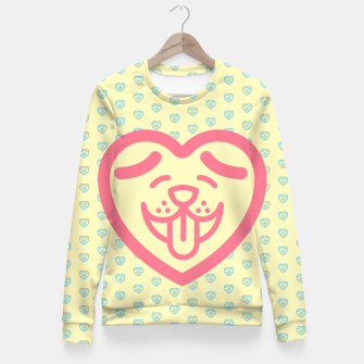 Miniatur Puppy Love (Pink) Fitted Waist Sweater, Live Heroes