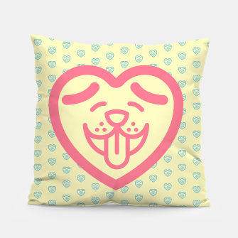 Miniatur Puppy Love (Pink) Pillow, Live Heroes