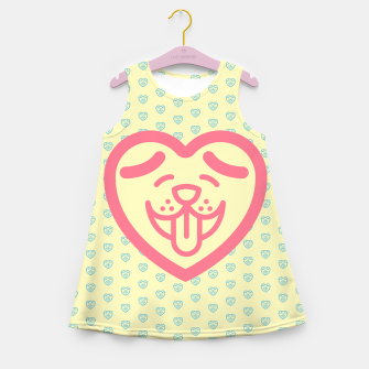 Miniatur Puppy Love (Pink) Girl's Summer Dress, Live Heroes