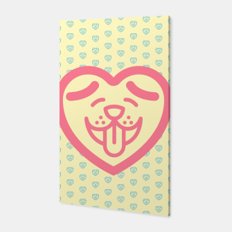 Miniatur Puppy Love (Pink) Canvas, Live Heroes