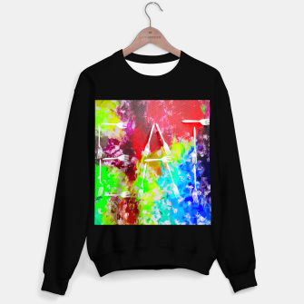 Miniatur EAT alphabet by fork with colorful painting abstract background Sweater regular, Live Heroes