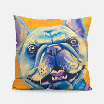 Miniatur French Bulldog Pillow, Live Heroes