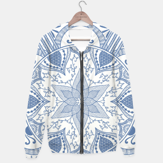 Miniatur Blue and White Pottery Howlsplann Mandala Hoodie, Live Heroes