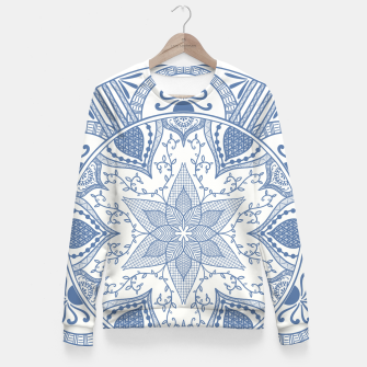 Imagen en miniatura de Blue and White Pottery Howlsplann Mandala Fitted Waist Sweater, Live Heroes