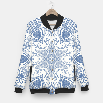 Miniaturka Blue and White Pottery Howlsplann Mandala Baseball Jacket, Live Heroes
