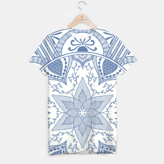 Miniatur Blue and White Pottery Howlsplann Mandala T-shirt, Live Heroes