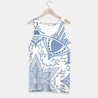 Miniatur Blue and White Pottery Howlsplann Mandala Tank Top, Live Heroes