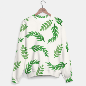 Thumbnail image of Leaves on Isabelline Sweater, Live Heroes