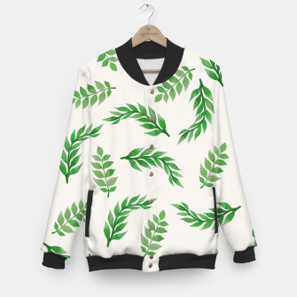 Miniaturka Leaves on Isabelline Baseball Jacket, Live Heroes