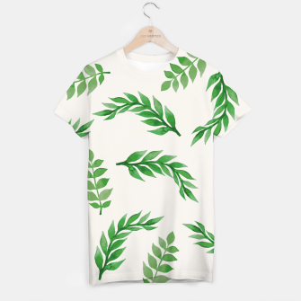 Imagen en miniatura de Leaves on Isabelline T-shirt, Live Heroes