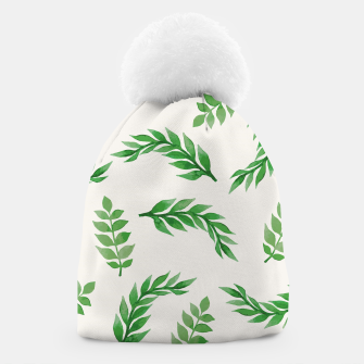 Thumbnail image of Leaves on Isabelline Beanie, Live Heroes