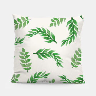 Miniatur Leaves on Isabelline Pillow, Live Heroes