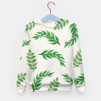 Thumbnail image of Leaves on Isabelline Kid's Sweater, Live Heroes