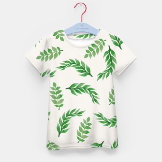 Thumbnail image of Leaves on Isabelline Kid's T-shirt, Live Heroes