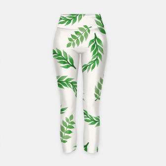 Thumbnail image of Leaves on Isabelline Yoga Pants, Live Heroes
