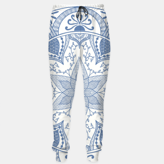 Miniaturka Blue and White Pottery Howlsplann Mandala Sweatpants, Live Heroes