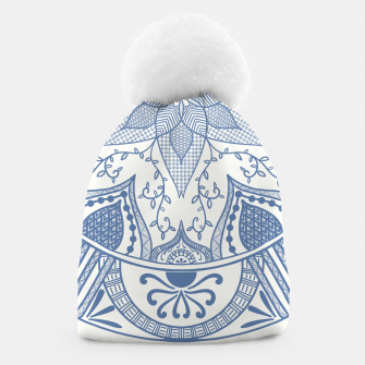 Miniatur Blue and White Pottery Howlsplann Mandala Beanie, Live Heroes