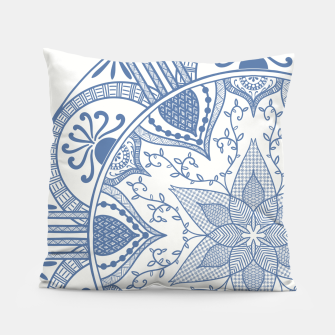 Miniatur Blue and White Pottery Howlsplann Mandala Pillow, Live Heroes