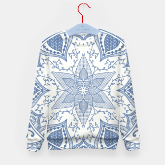 Miniatur Blue and White Pottery Howlsplann Mandala Kid's Sweater, Live Heroes