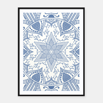 Miniaturka Blue and White Pottery Howlsplann Mandala Framed poster, Live Heroes