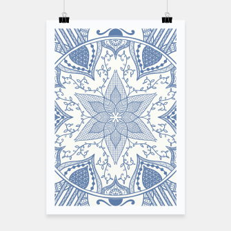 Miniatur Blue and White Pottery Howlsplann Mandala Poster, Live Heroes