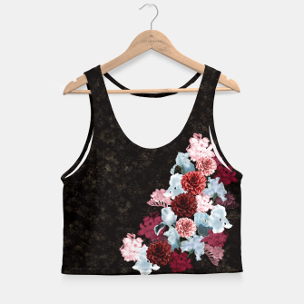 Miniatur elegant flower gradation with Japanese traditional Kamon decoration like Kimono Crop Top, Live Heroes