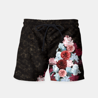 Miniaturka elegant flower gradation with Japanese traditional Kamon decoration like Kimono Swim Shorts, Live Heroes