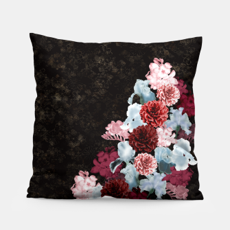 Miniatur elegant flower gradation with Japanese traditional Kamon decoration like Kimono Pillow, Live Heroes