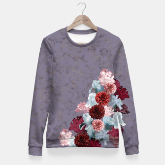 Imagen en miniatura de elegant flower gradation with Japanese Kamon decoration Fitted Waist Sweater, Live Heroes