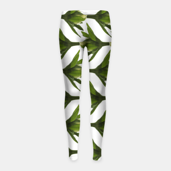 Summer Greenery Girl's Leggings Bild der Miniatur