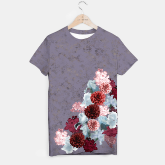 Imagen en miniatura de elegant flower gradation with Japanese Kamon decoration T-shirt, Live Heroes