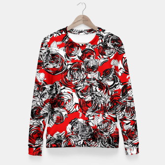 Miniaturka Roses Wild RED Fitted Waist Sweater, Live Heroes