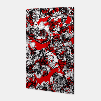 Miniatur Roses Wild RED Canvas, Live Heroes